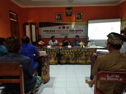 Seminar Pertanian KKN PPM Desa Sudaji