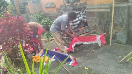 Persiapan Menyambut Peringatan Hari Kemerdekaan Indonesia yang ke - 73